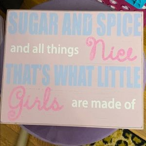 Girls decor sign